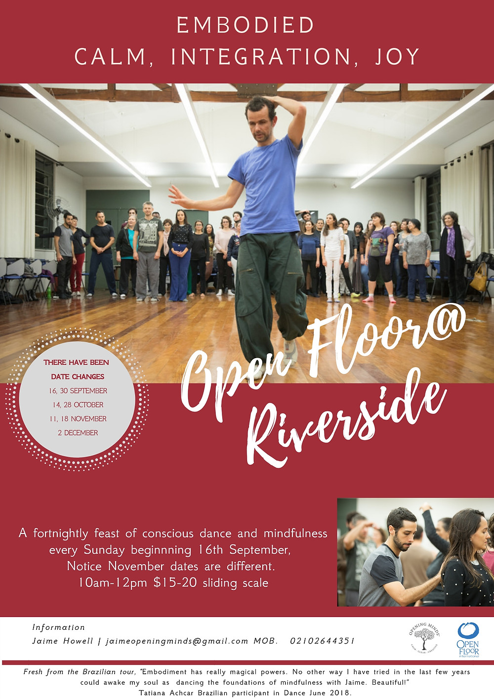 Open Floor Dance at Riverside Poster
