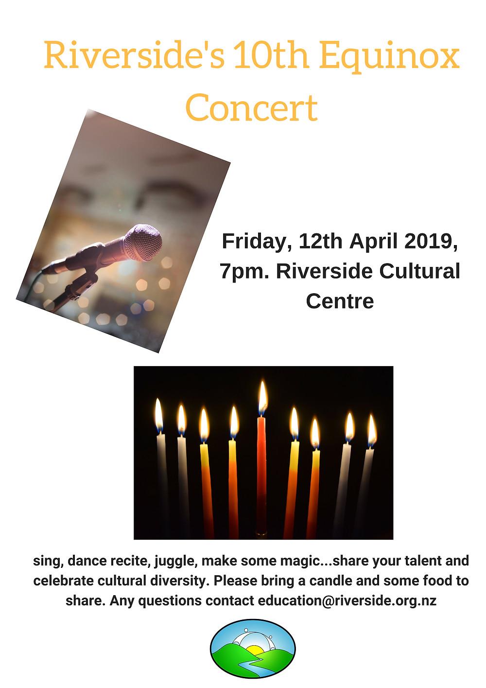 10th Equinox concert at Riverside Community