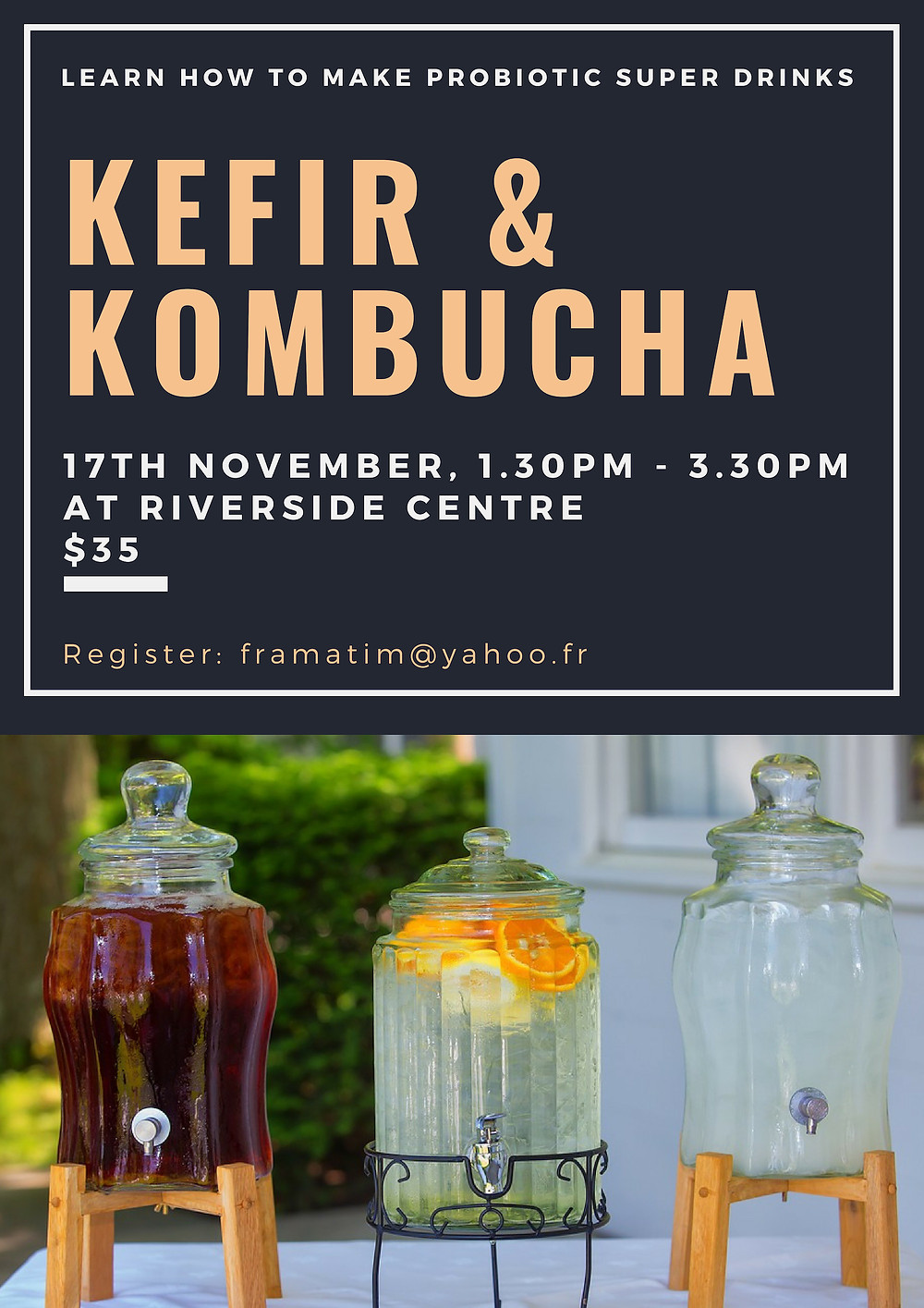 Kefir & Kombucha Workshop at Riverside