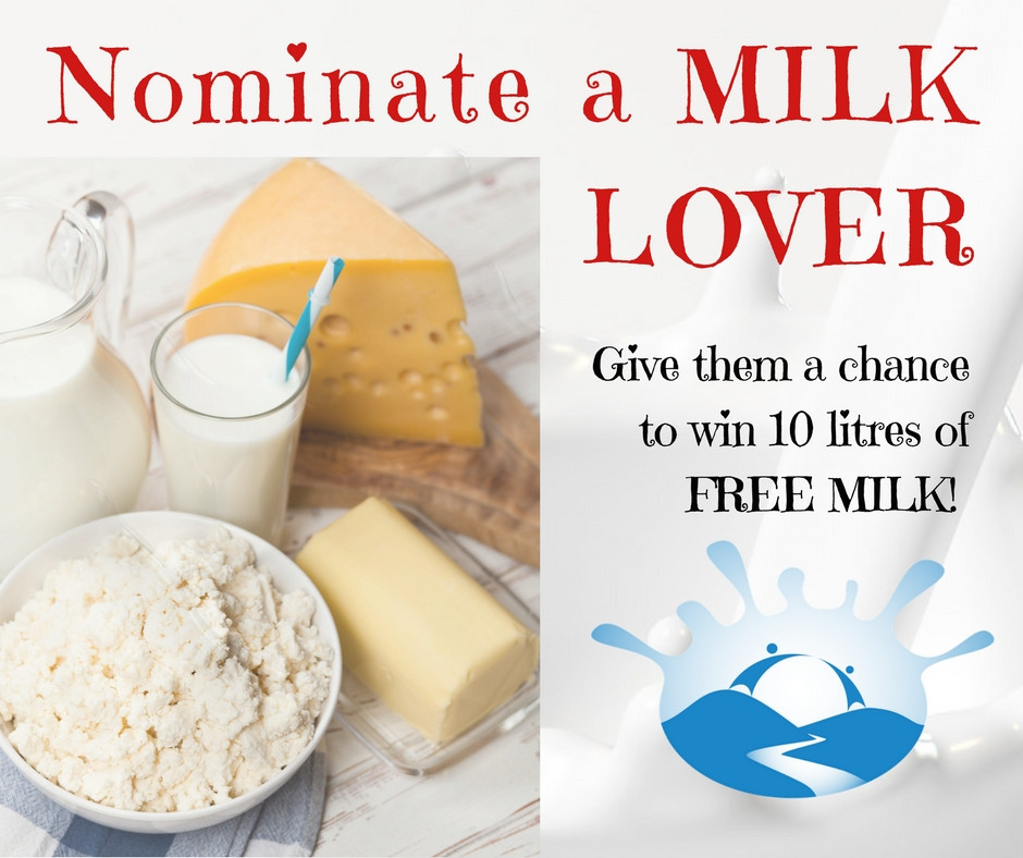 Riverside Milk's 'Nominate a Milk Lover' competition poster