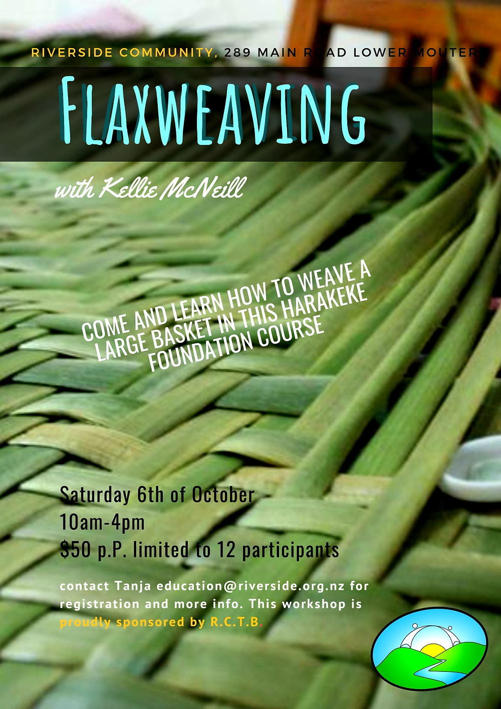 Flax Weaving at Riverside Poster