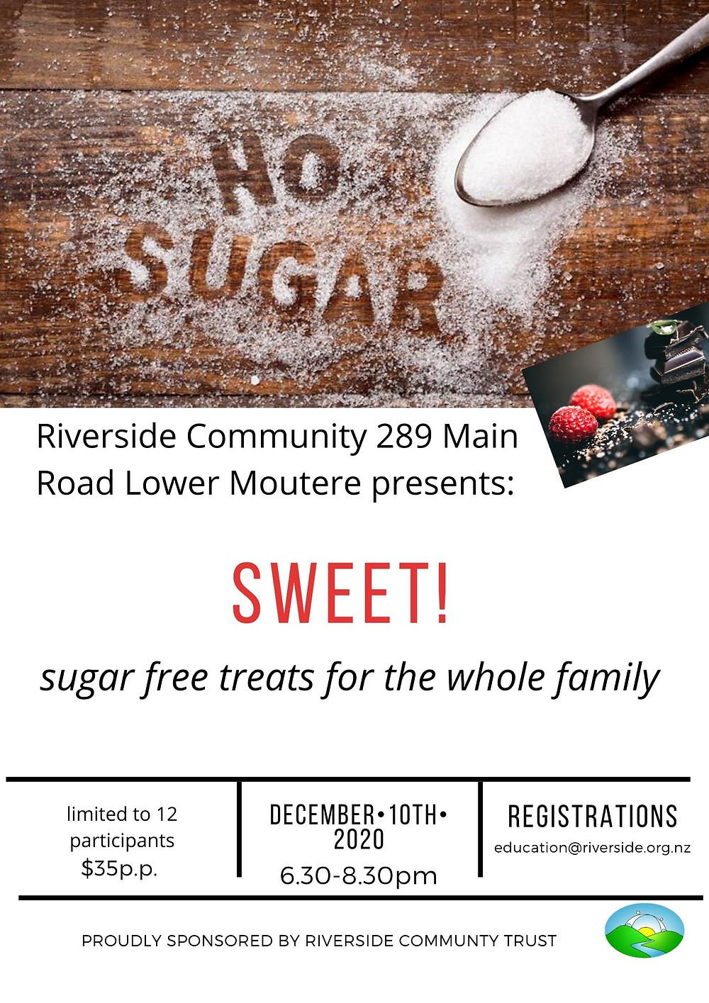 Sugar Free Treats workshop at Riverside Community NZ