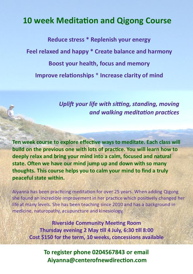Meditation & Qigong - CANCELLED