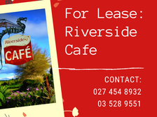 Riverside Cafe is For Lease!