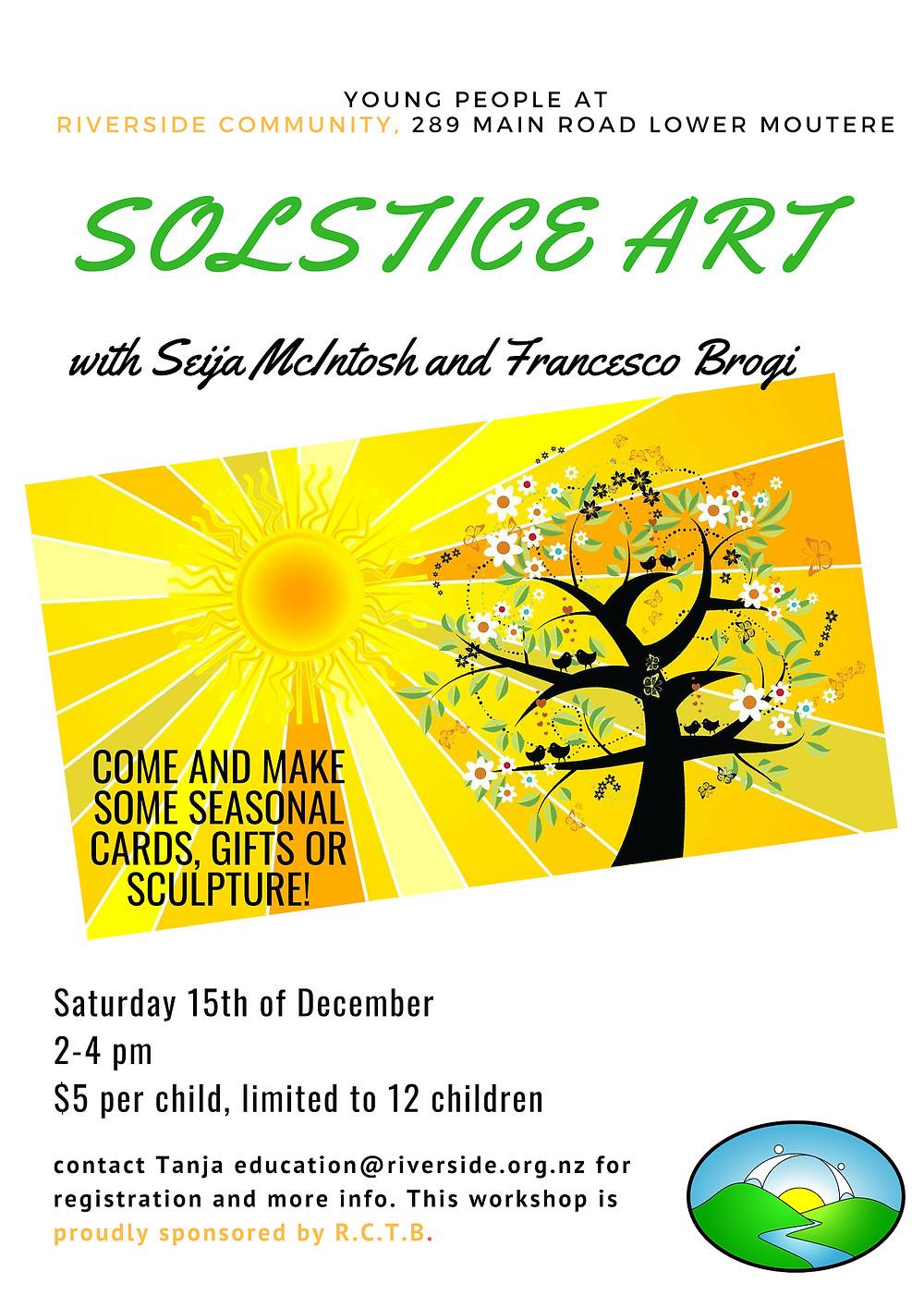 Solstice Art Riverside Workshop
