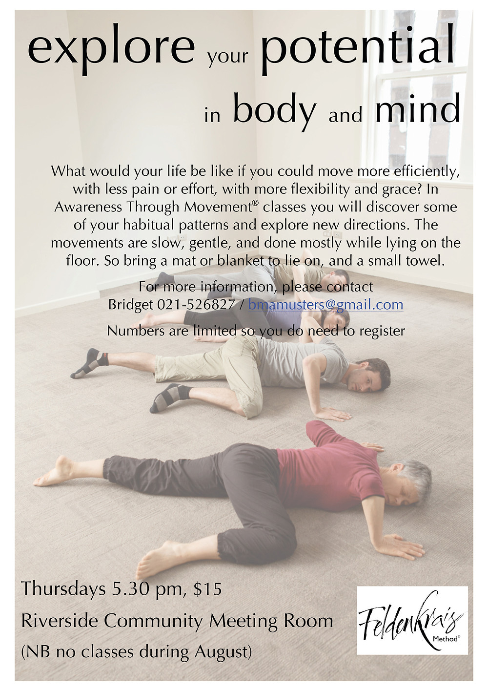 Feldenkrais Classes at Riverside