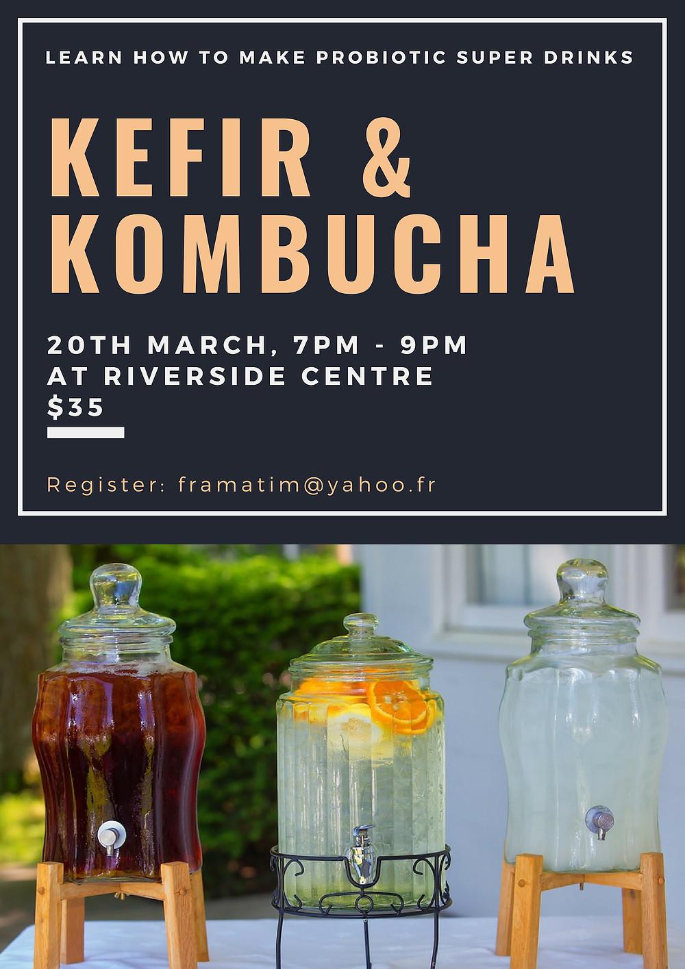 Kefir & Kombucha Workshop Poster