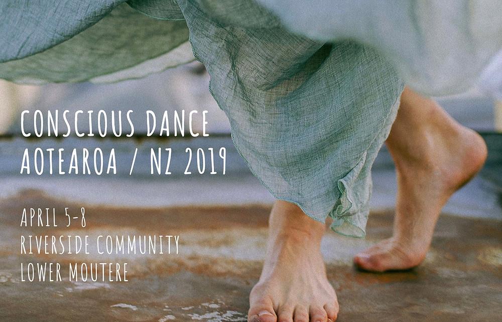 Conscious dance aotearoa poster