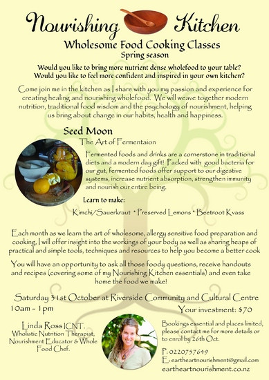 'Nourishing Kitchen' - Wholsome food cooking classes