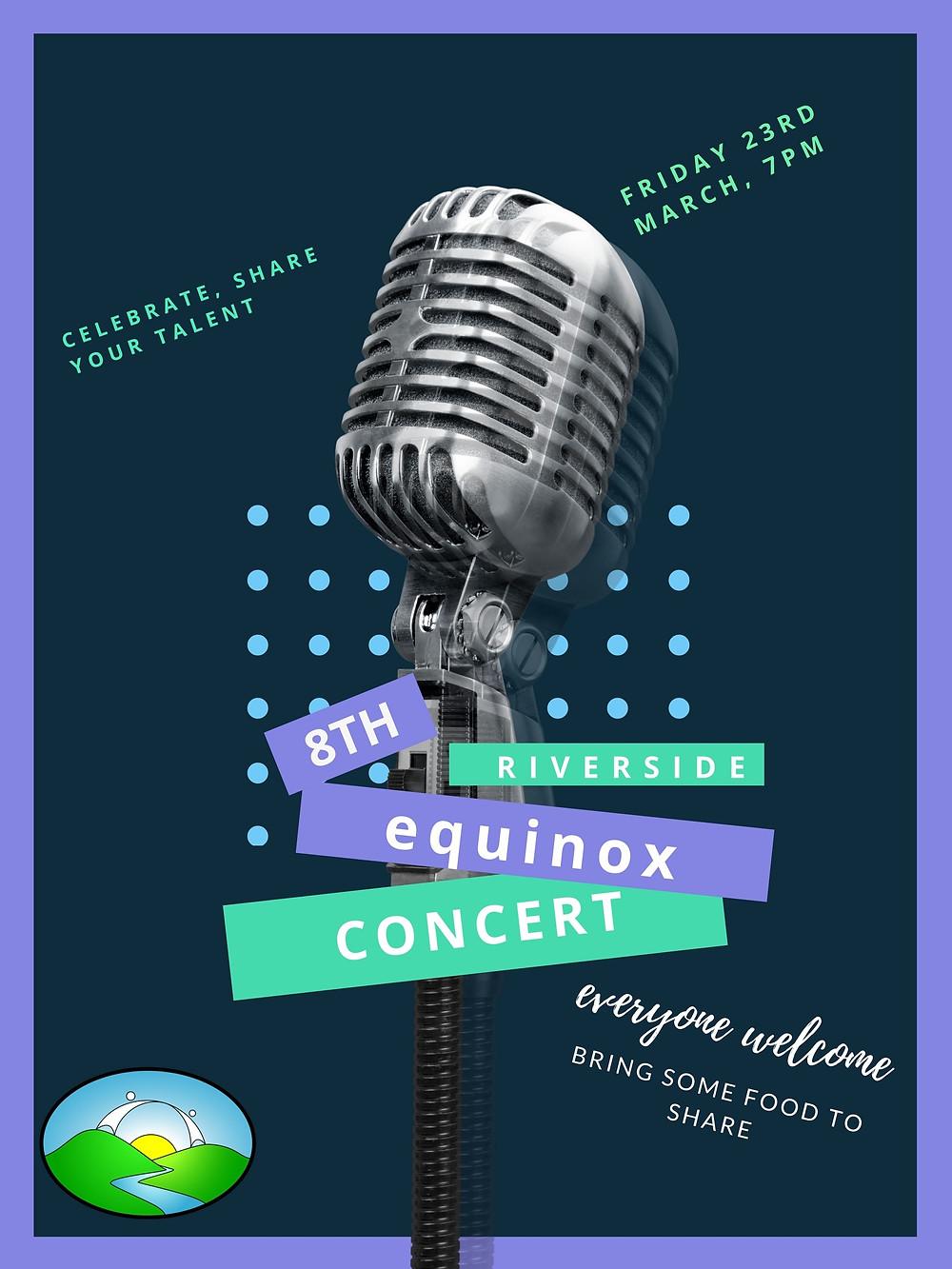 Equinox Concert at Riverside Poster