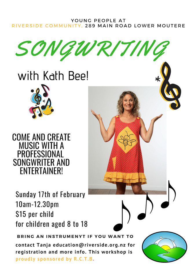 Song Writing with Kath Bee - CANCELLED
