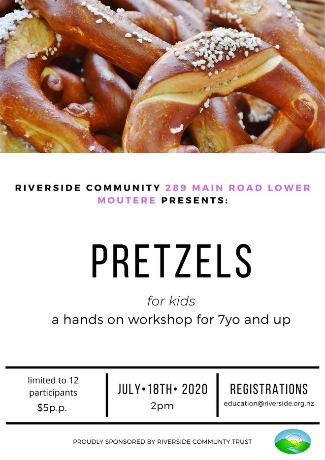 Pretzel Making for Kids (7years+)