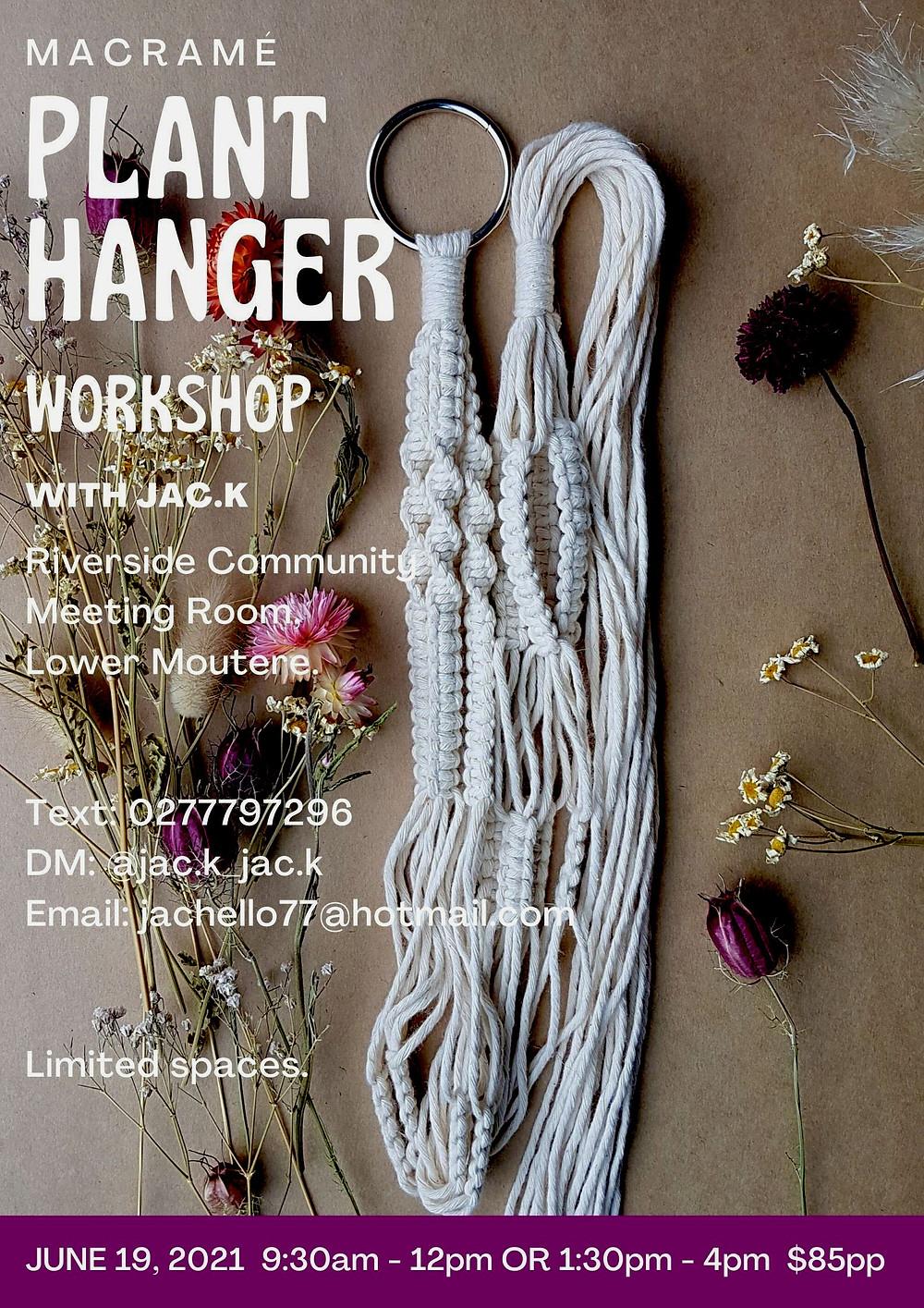 Macrame Plant Hanger Workshop Poster