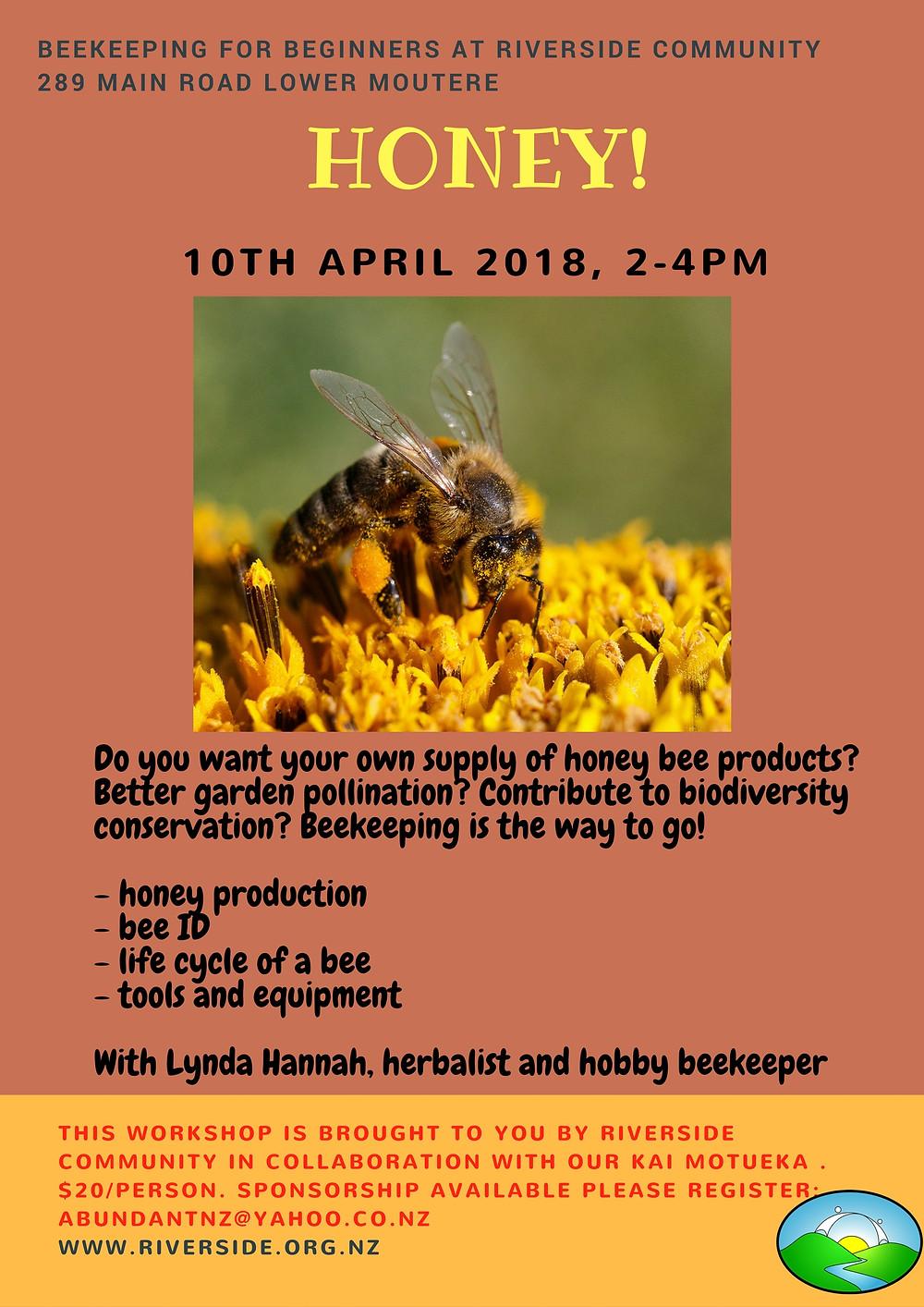 beekeeping for beginners poster