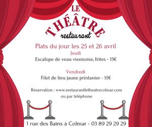 Plats du jours au restaurant Le Théâtre à Colmar