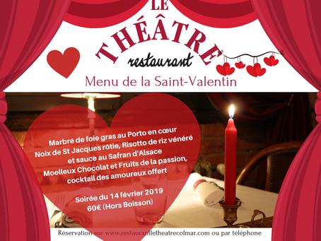 La Saint-Valentin au restaurant Le Théâtre à Colmar