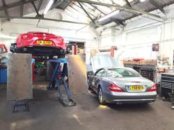 Mercedes & Alfa 4C