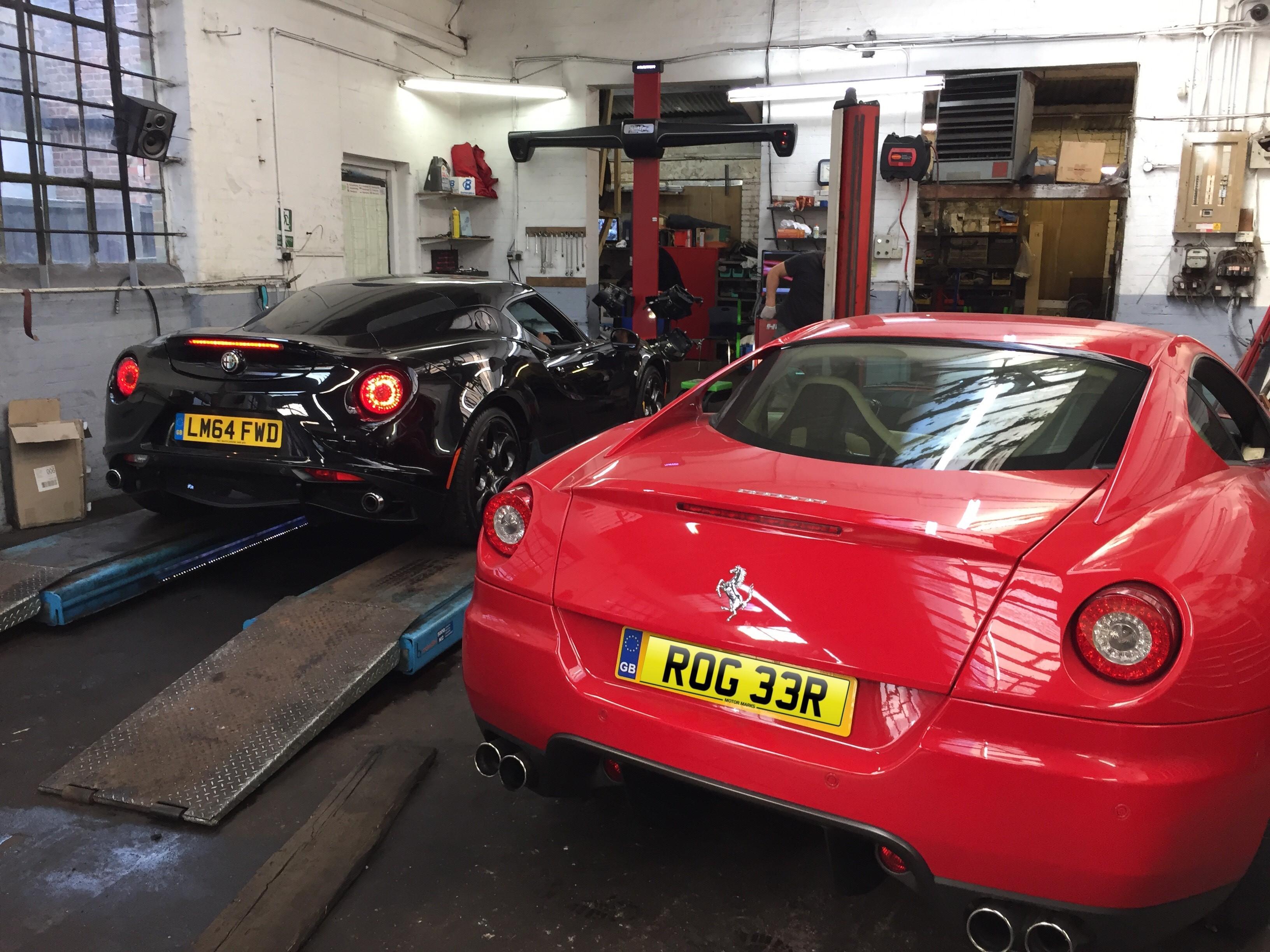 Ferrari & Alfa 4C