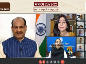 """""""Media plays an important role in creating social consciousness"""": Om Birla"""