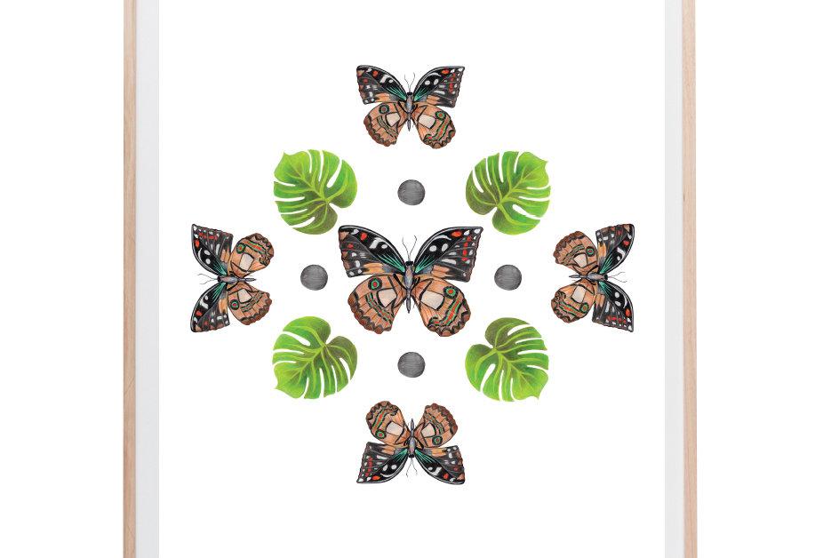 Sky Butterflies Art Print