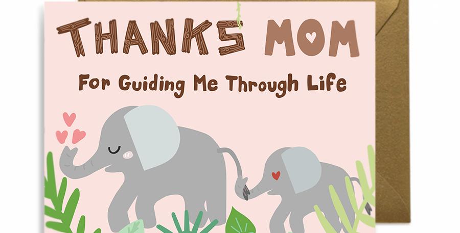 Elephant Mom Greeting Card