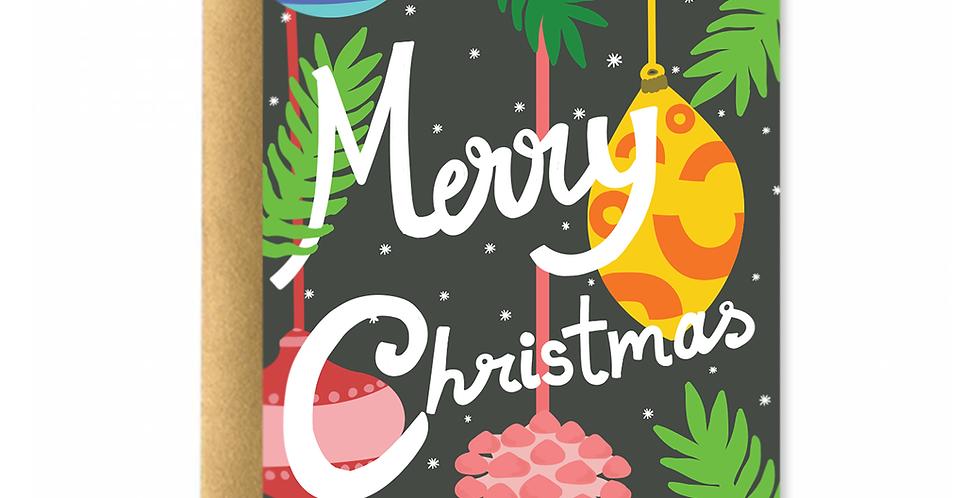 Christmas Ball Ornaments Greeting Card