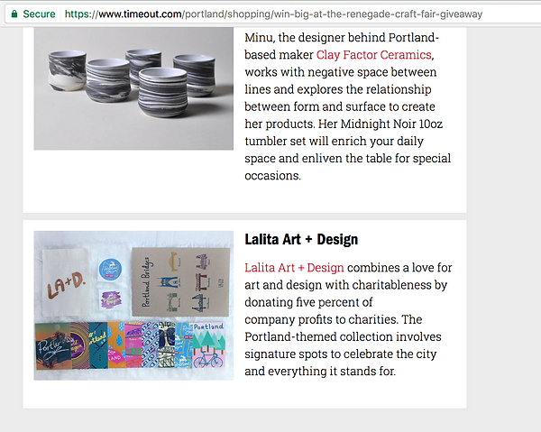 Lalita Art and Design on TimeOut