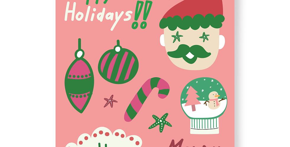 Santa Stickers Set