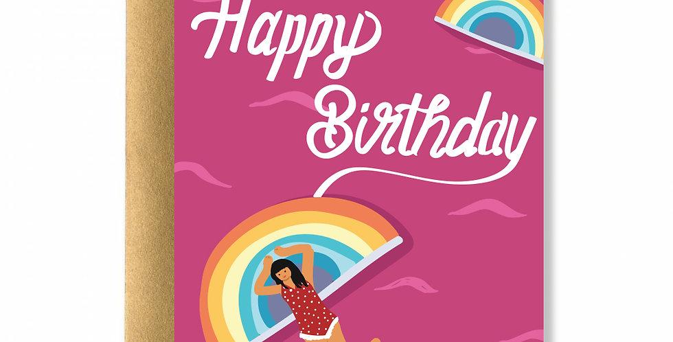 Rainbow Life Greeting Card