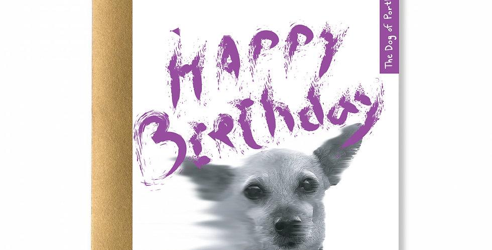 Purple Dog of Portland Card