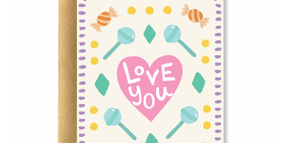 Pastel Candy Greeting Card