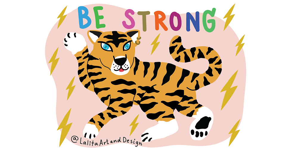 Be STRONG! Die Cut Sticker