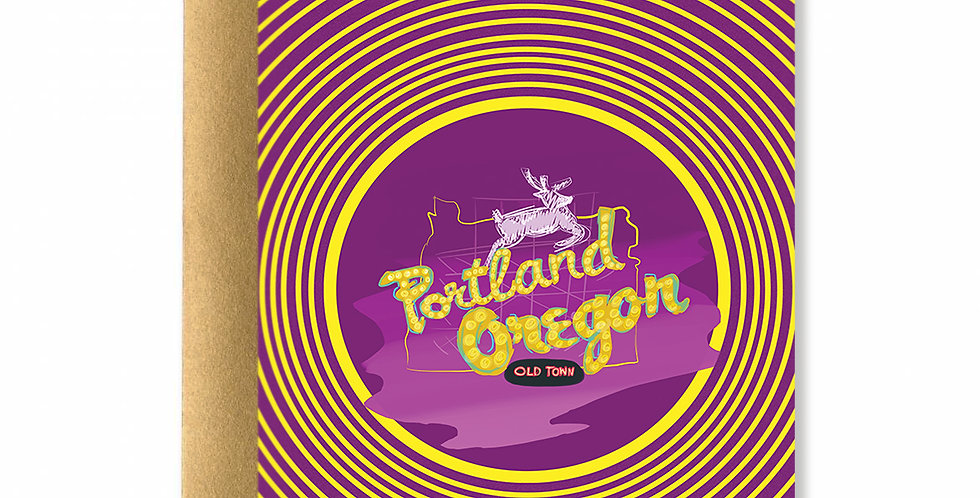 Portland Iconic Sign Card