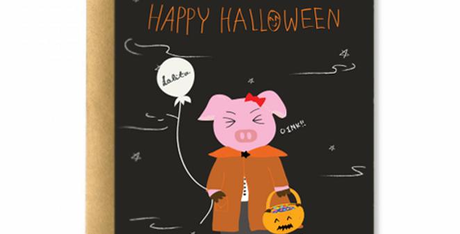 Happy Halloween, Oink! Greeting Card