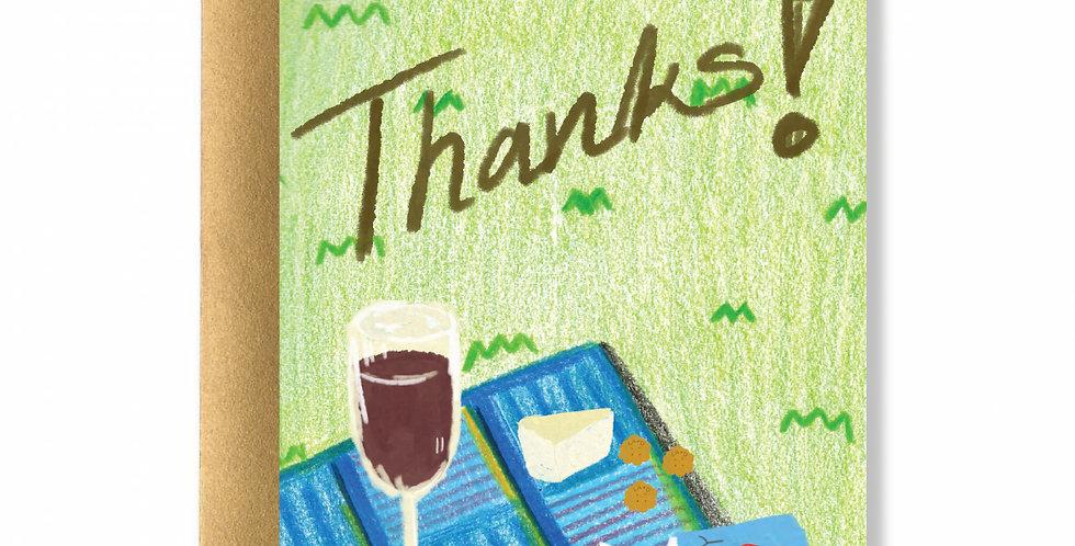 Garden Thank You Greeting Card
