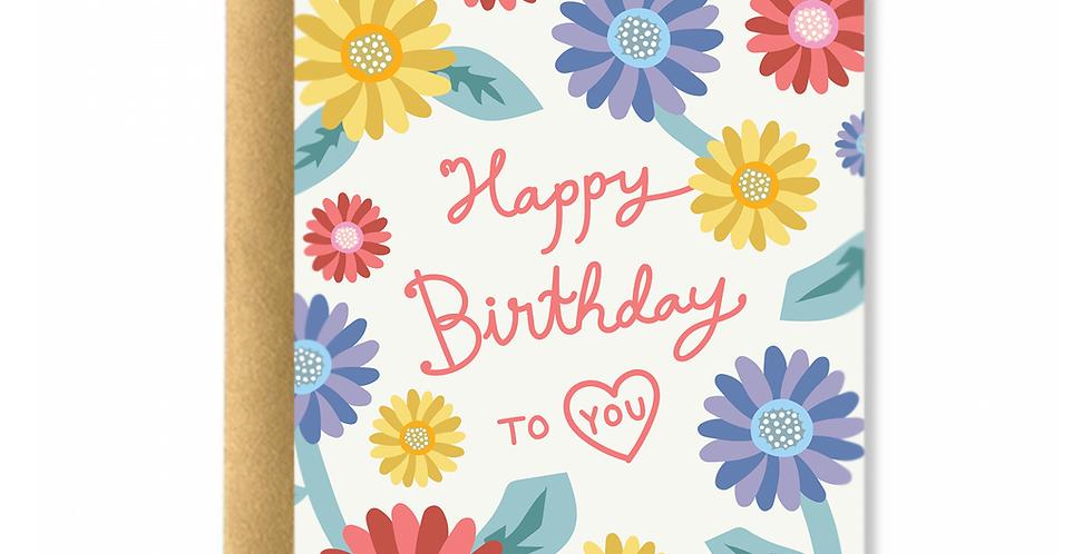 Sunflowers Happy Birthday Greeting Card
