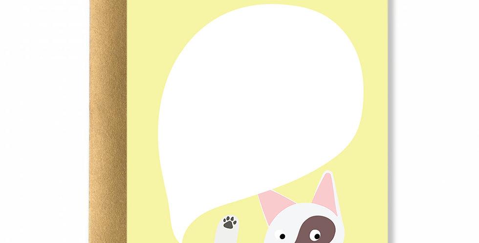 Yellow Pixie Card