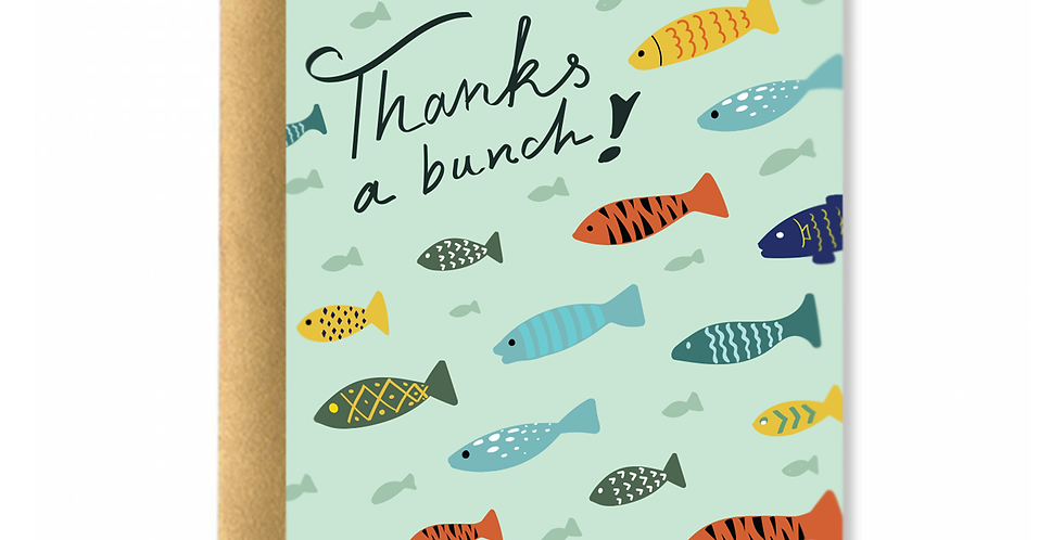 Fishes Thanks Greeting Card