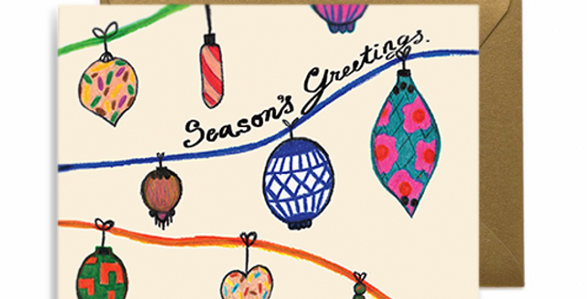 Seasonal Ornaments Greeting Card
