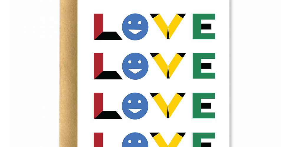 Love Emoji Greeting Card