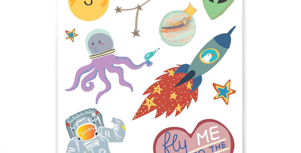 Galaxy Stickers Set