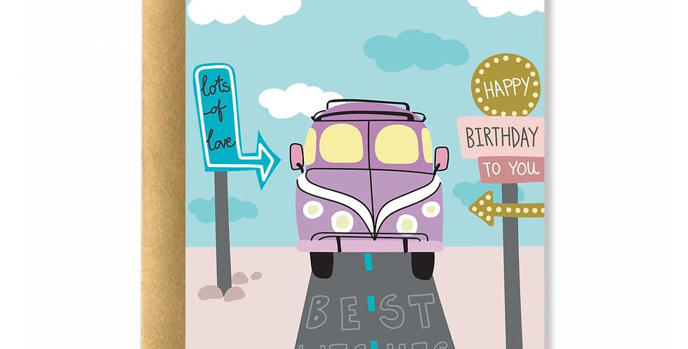 Sea Sand Surf Birthday Greeting Card