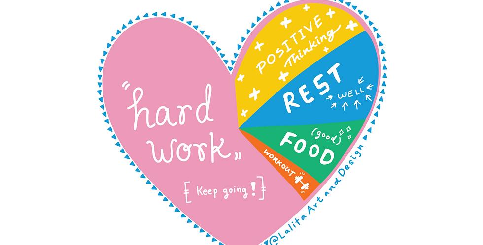 Happy Life Chart Die Cut Sticker