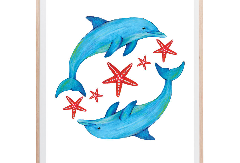 Ocean Dolphins Art Print