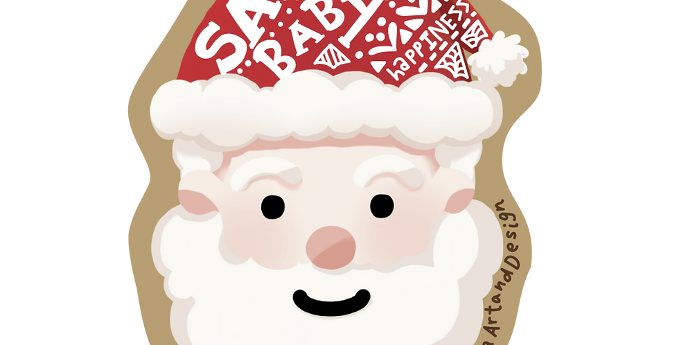 Santa Baby Die Cut Sticker