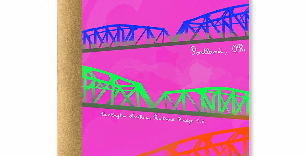 Portland Bridges Card