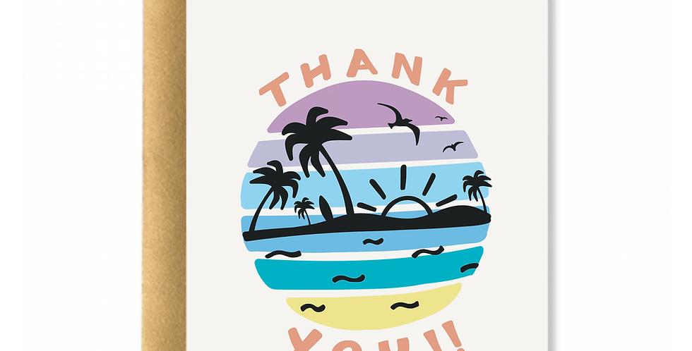 Aloha Thank You Greeting Card