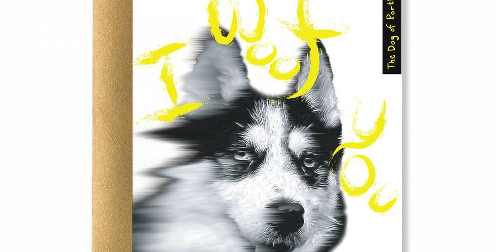 Yellow Dog of Portland Card
