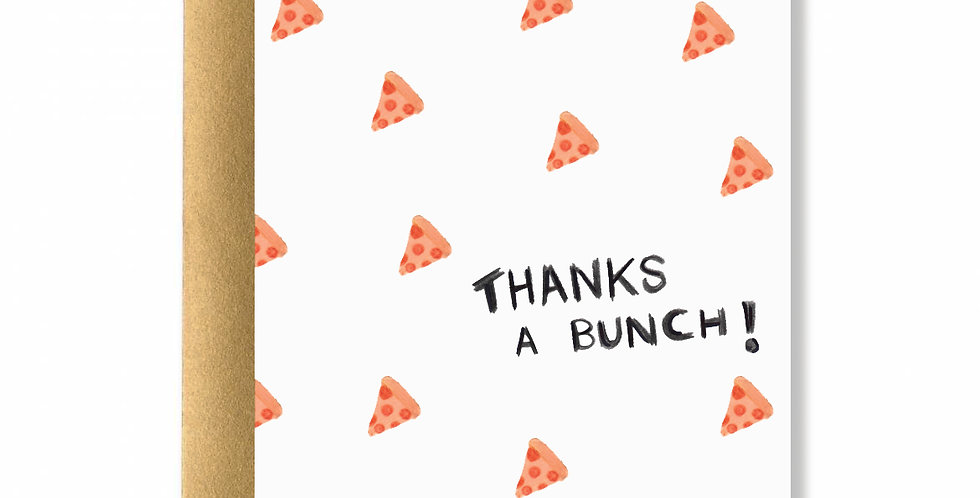 Pizza Thanks Greeting Cards