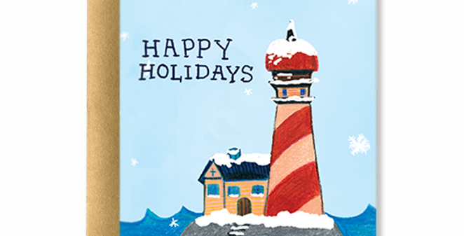 Lighthouse Holidays Greeting Card